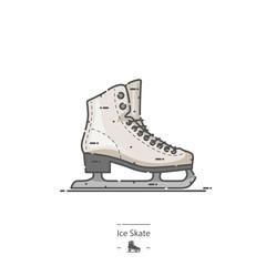 Ice Skate - Line color icon