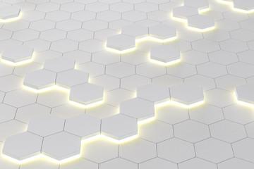 digital white honeycomb wallpaper