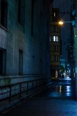大阪北浜・雨降る夜