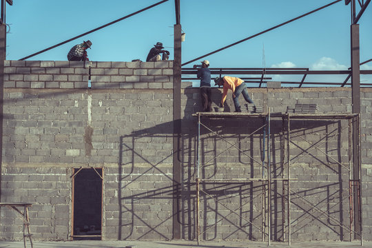 Construction worker is working in the construction site