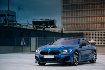 BMW 8 Series M850i xDrive at the parking