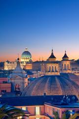 Türaufkleber Rom Rome skyline at night