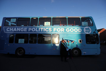 Brexit Party leader Nigel Farage campaigns in Barnsley
