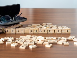 best practices the word or concept represented by wooden letter tiles
