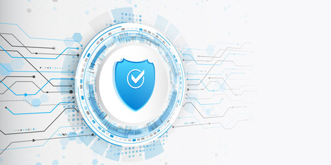 Safety and confidential data protection. Future cyber technology web services for business and internet project. Isometric vector illustration.