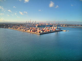 dct port gdansk from above Wall mural
