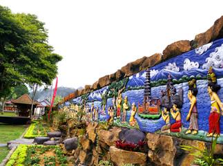 Colorful Side Wall at Ulun Danu Temple Bali - Indonisia