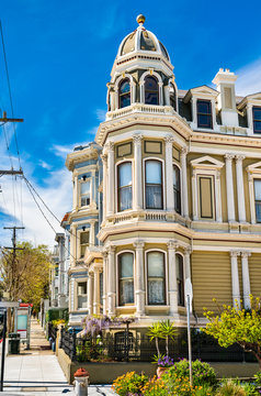 Traditional Victorian houses in San Francisco, California