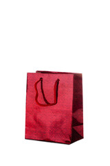 Red  paper shiny gift bag