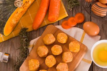 Pumpkin chicken meatballs.