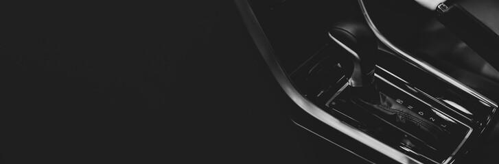 Modern automatic transmission gear sport car, interior design for modern car.
