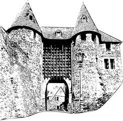 Ancient German Castle, Eifel, Germany