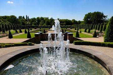 Beautiful fountain, Abbey Kamp, Kamp-Lintfort, Germany
