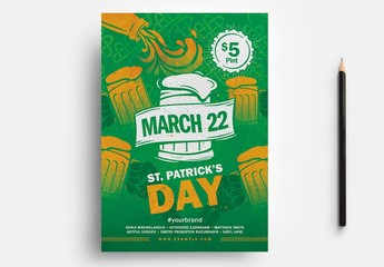 St. Patrick's Day Flyer Layout