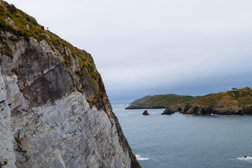 cliffs in ireland with sea