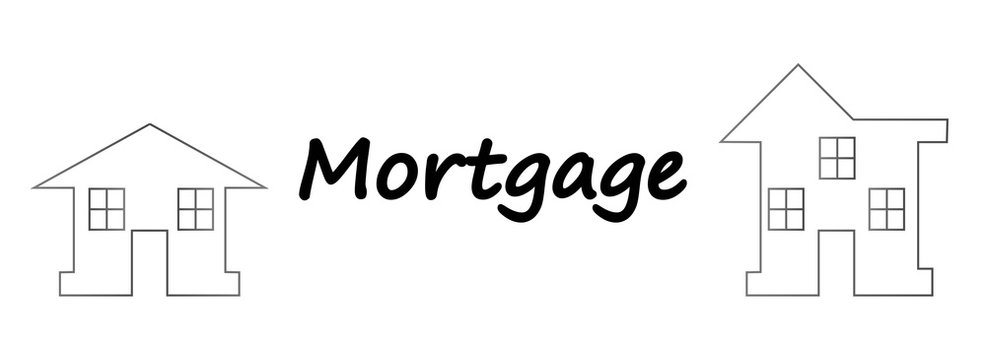 Vector illustration: mortgage loan to buy a house. Returns mortgage loan with interest. Infographics: Mortgage loan as a cash flow. Buying real estate in white, red, grey colors.