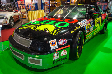 "STUTTGART, GERMANY - MARCH 03, 2017: Race car Chevrolet Lumina Nascar, 1989. Europe's greatest classic car exhibition ""RETRO CLASSICS"""