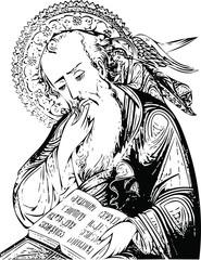 Saint John the Theologian, Icon (vector)
