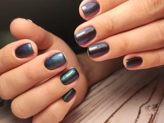 Poster de jardin Manicure fashion manicure design on a beautiful texture