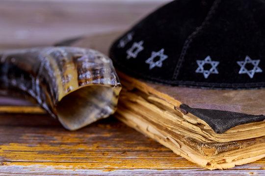 Still Life of Jewish symbols for Rosh Hashana