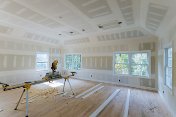 Drywall finish building industry new home construction interior