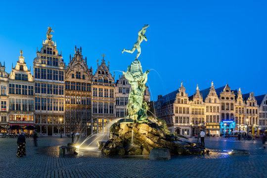 The Grote Markt in the historic centre, Antwerp, Belgium