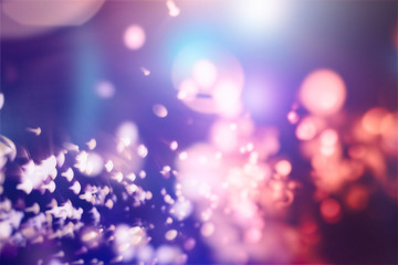Festive Christmas background. Elegant abstract background with bokeh defocused lights