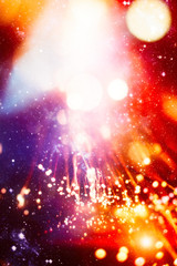 Picture blurred for background abstract and can be illustration to article of bokeh light . Bright...