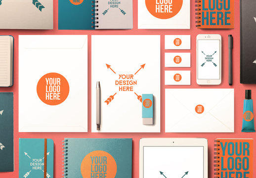 Back to School Office Supplies Mockup
