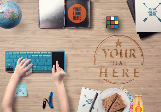 Back to School Online Education Mockup
