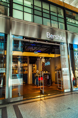 Detail of Bershka store at Turin, Italy. It is an Spanish fashion company founded at 1998.