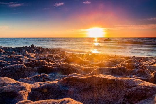 Sunset on Gulf of Mexico Beach in Captiva Island, Florida, USA