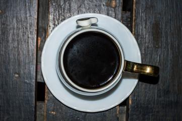 Deurstickers Cafe Cup of coffee