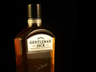 Gentleman Jack, the finer, more elegant version of the classic Jack Daniel's Tennessee whiskey. No. 7. It is a American whiskey   - illustrative editorial