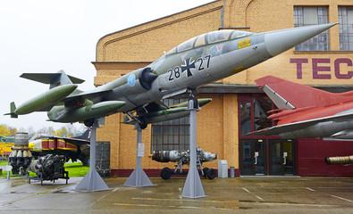 Technik Museum Speyer - fighter Lockheed F-104 Starfighter. Museum pulls more than half a million visitors per year, Germany