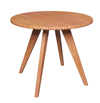 Round table isolated on white background with clipping path included. 3D render image.
