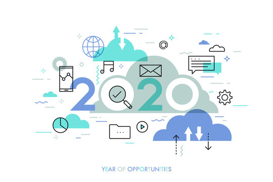 Infographic concept 2020 year of opportunities