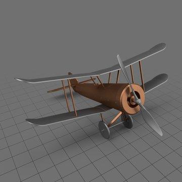 Metal vintage toy plane
