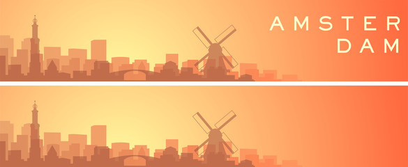 Amsterdam Beautiful Skyline Scenery Banner Fototapete
