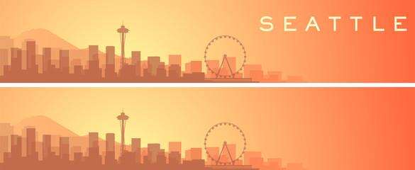Seattle Beautiful Skyline Scenery Banner Fototapete