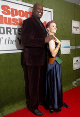 U.S. soccer player Megan Rapinoe and Shaquille O'Neal arrive for Sports Illustrated Sportsperson of the Year Awards in New York