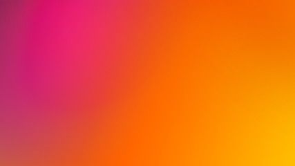 Pink, Orange and Yellow Gradient Defocused Blurred Motion Abstract Background Fotomurales