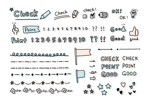 Handwritten illustration check and points