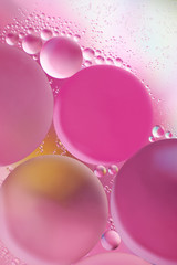 Pink abstract background with bubbles
