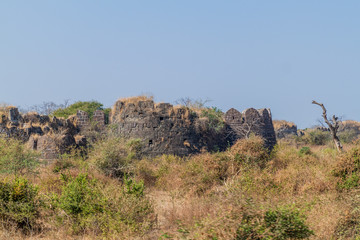 Ruins of Daulatabad Fort in Maharasthra state, India