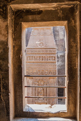 Detail of Kailasa Temple in Ellora, Maharasthra state, India