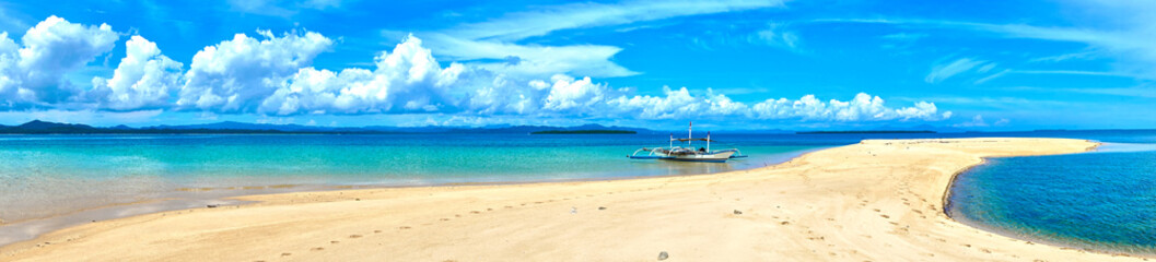 """Sandbar in the """"Roxas Bay"""" before Palawan Island in the Philippines. Not far from famous El Nido."""