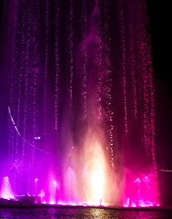 Poster de jardin Fontaine Dancing fountain in the park