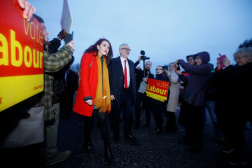 Britain's opposition Labour Party leader, Jeremy Corbyn, campaigns in the North West