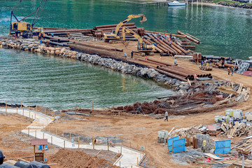 New cruise port terminal under construction